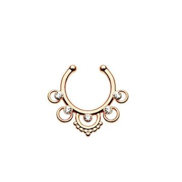 Fake Piercing Septum rosegold