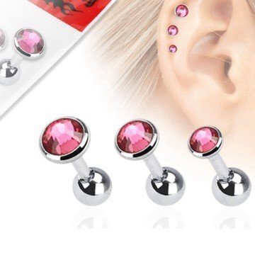 1,2mm Flat Piercing - 3 er Set Angebot Pink