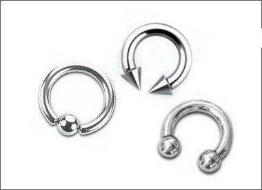 Piercing Ringe von 2mm-8mm
