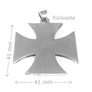 Eisernes Kreuz Anhänger aus Edelstahl