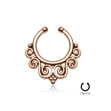 Fake Septum Piercing Schmuck Ornament rosegold
