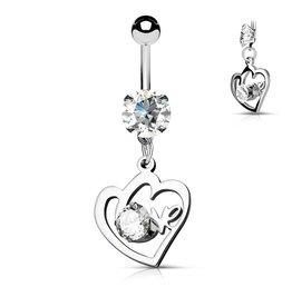 Love Bauchnabelpiercing Herz