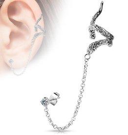 Ohrklemme Schlange - Ear Cuff