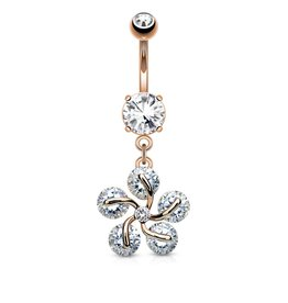 Rose Nabelpiercing Blume