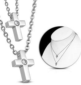 Halskette Edelstahl Kreuz
