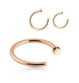 0,8 mm Nasenpiercing Ring rosegold
