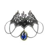 Gothic Collier mit blauen Amulett