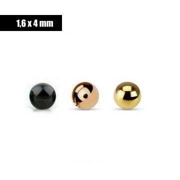 1,6 x 4 mm Piercingkugel