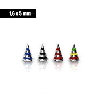 1,6 mm Piercingkegel - 4 Farben