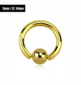 3 mm Penisring Gold