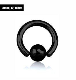 3 mm Penisschmuck schwarz