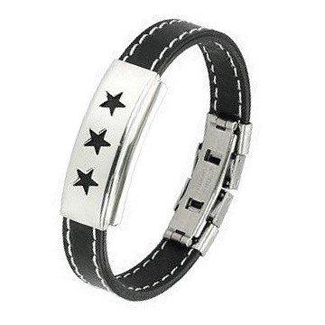 Kautschuk Armband mit Sternen