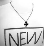 Halskette aus Edelstahl mit Eisernen Kreuz