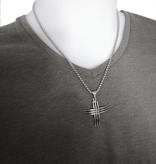 Kreuz Anhänger aus Edelstahl