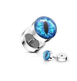 Fake Plug Auge Blau