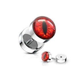 Fake Plug Auge Rot