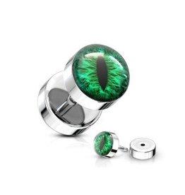 Fake Plug Auge Grün