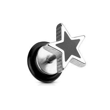 Fake Plug Stern in Schwarz