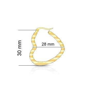 Creolen gold Edelstahl  Ø 30mm Herzform