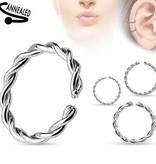 Piercing Ring silberfärbig zum aufbiegen
