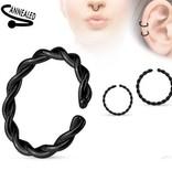 Continuous Ring schwarz zum aufbiegen