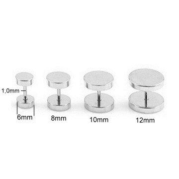 Edelstahl Fake Plugs - 6 | 8 | 10 | 12mm lieferbar