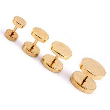 Goldfärbige Edelstahl Fake Plugs - 6 | 8 | 10 | 12mm lieferbar
