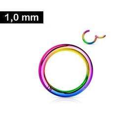 8mm Nasenring multicolor
