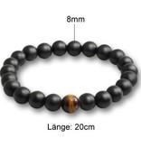 Schwarzes Perlen Armband Tigerauge