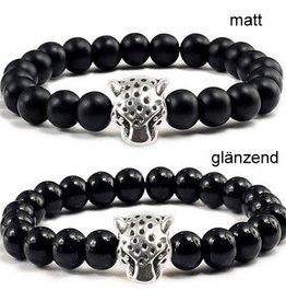 Perlen Armband Leopard