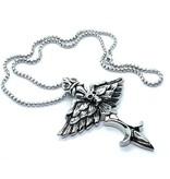 Kettenanhänger Flügel mit Totenkopf