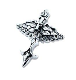 Kettenanhänger Totenkopf - Flügel