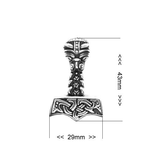 Thors Hammer Anhänger aus Edelstahl