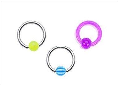 UV Piercingringe