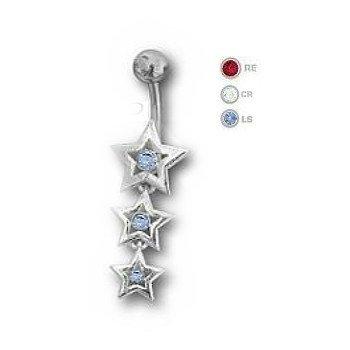 Bauchnabelpiercing mit 3 Sterne