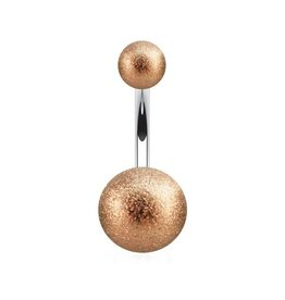 Rosegold Bauchnabelpiercing Frosted Ball