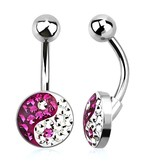 Bauchnabelpiercing Yin Yang Hot Pink - 10mm