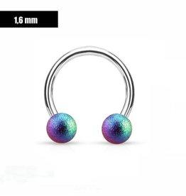 1,6 mm Hufeisen Ring multicolor
