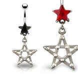 Bauchnabelpiercing Gothic mit Stern