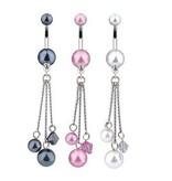 Bauchnabelpiercing Perle mit Anhänger