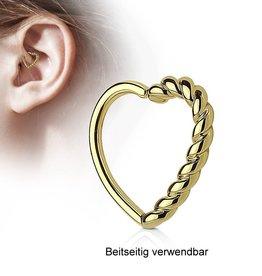 Goldfärbiger Daith Piercing Schmuck