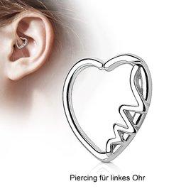 Herz Daith Piercing
