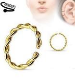 Piercing Ring goldfärbig zum aufbiegen