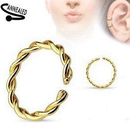 Piercing Ring goldfärbig