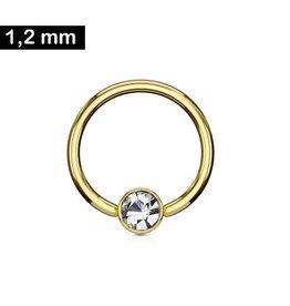 Goldfärbiger Daith Piercing Ring