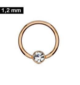 Daith Piercing Ring rosegold