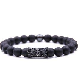 Achat Perlen Armband Krone