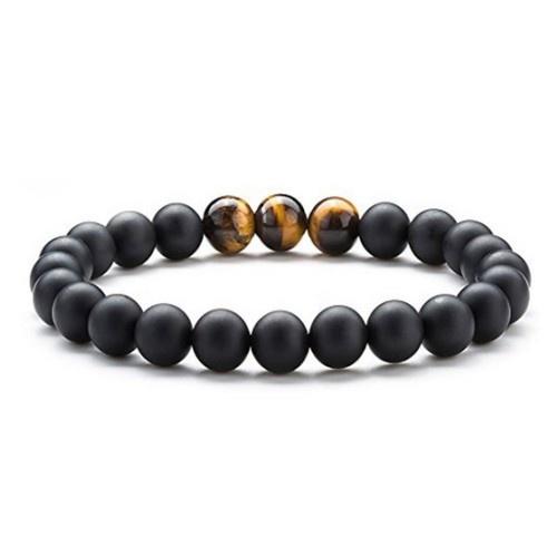 8mm Achatstein Armband Perlen matt