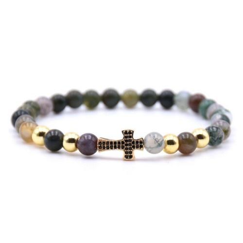 Achatstein Perlen Damen Armband