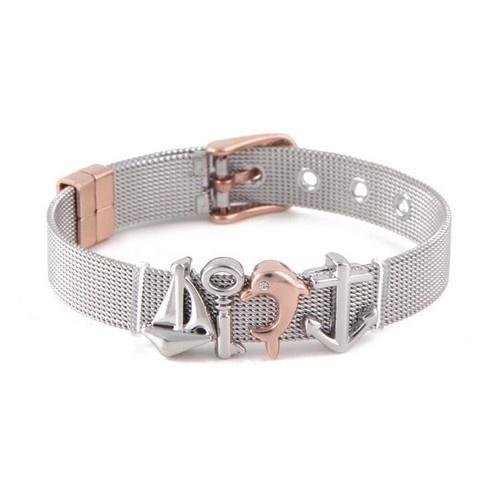 Edelstahl Mesh Armband mit 4 Motiven